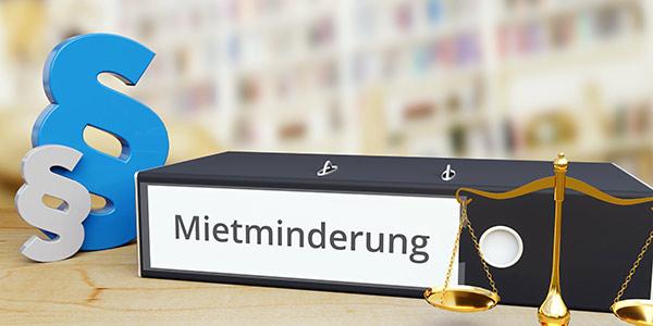 Ordner mit Aufschrift Mietminderung - Mietrecht Berlin